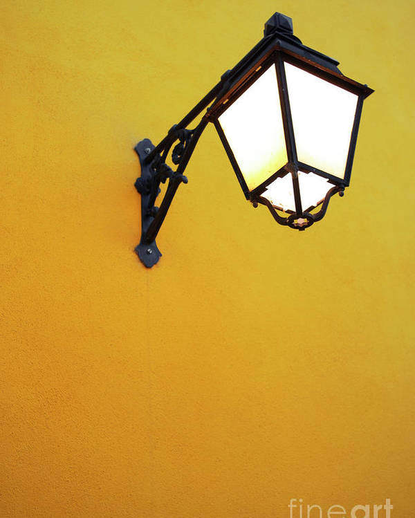 Background Poster featuring the photograph Old Street Lamp by Carlos Caetano