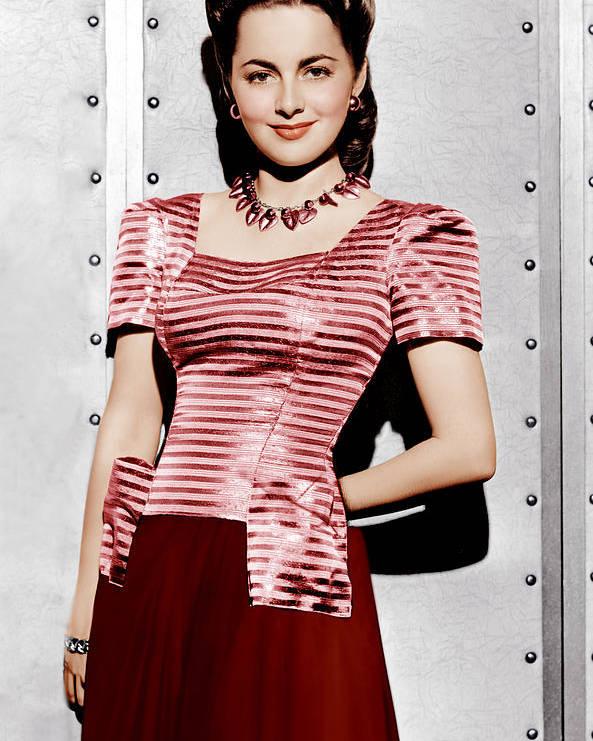 1940s Portraits Poster featuring the photograph Olivia De Havilland, Ca. 1942 by Everett