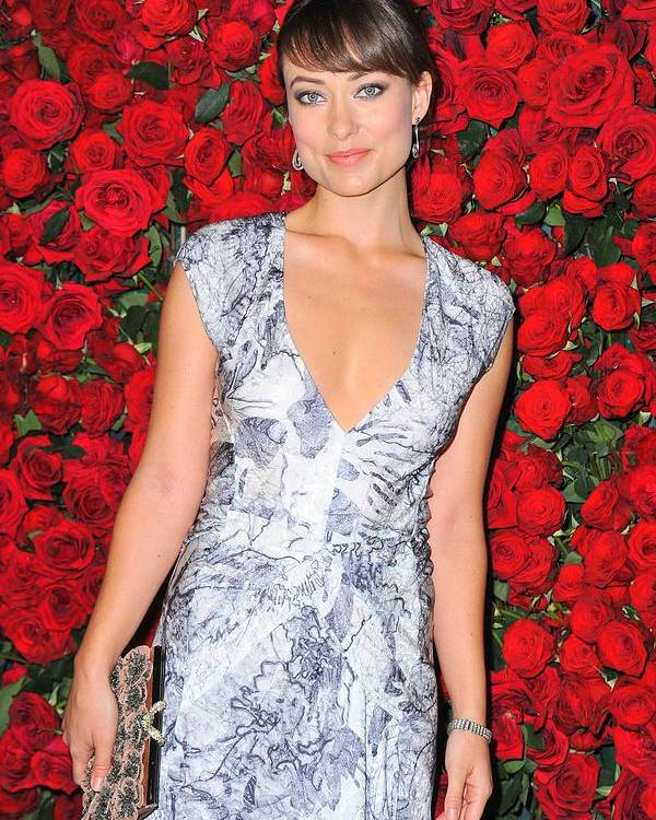 Olivia Wilde Poster featuring the photograph Olivia Wilde Wearing A Narciso by Everett