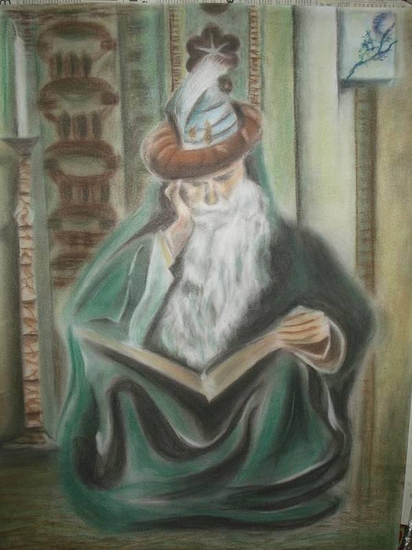 Omar Khayyam Poster featuring the pastel Omar Khayyam by Prasenjit Dhar