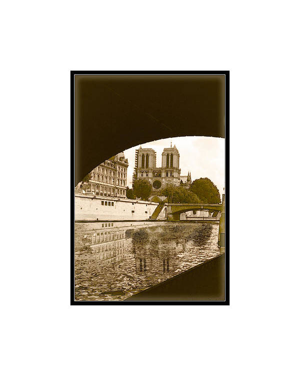 Paris Poster featuring the photograph On The Seine - Paris by Ted Lang