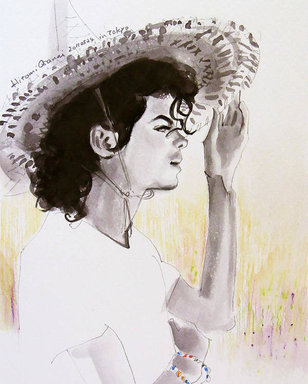 Michael Jackson Poster featuring the drawing One Day In Your Life by Hitomi Osanai