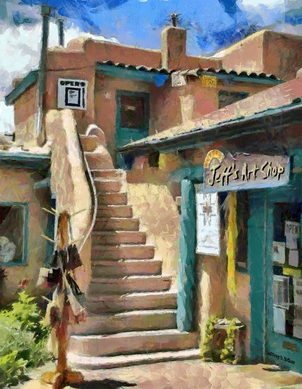 Jeff's Art Shop Poster featuring the painting Open For Business by Jeff Kolker