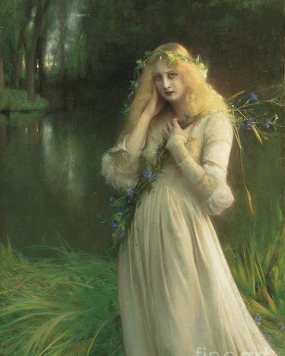Ophelia Poster featuring the painting Ophelia by Pascal Adolphe Jean Dagnan Bouveret