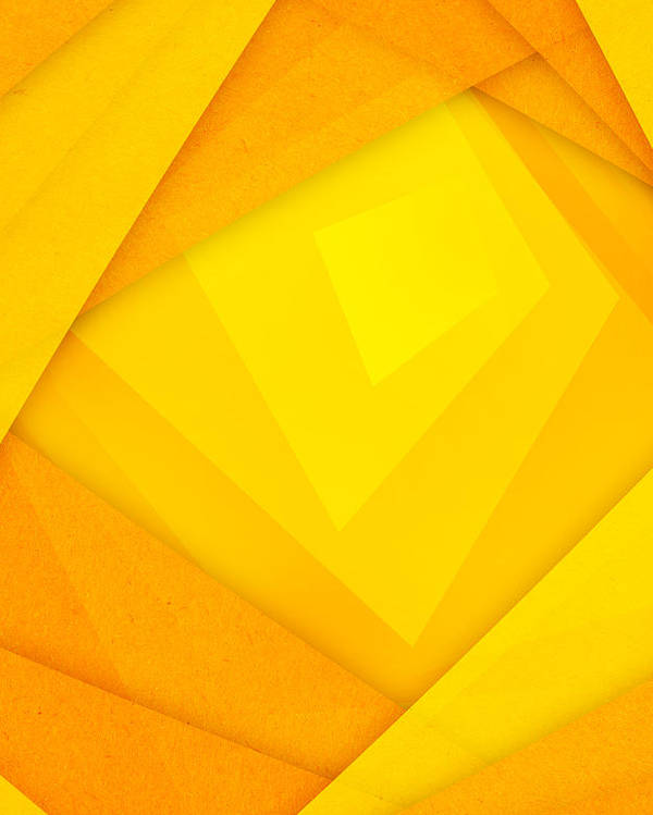 Orange And Yellow Abstract Paper Background Poster By