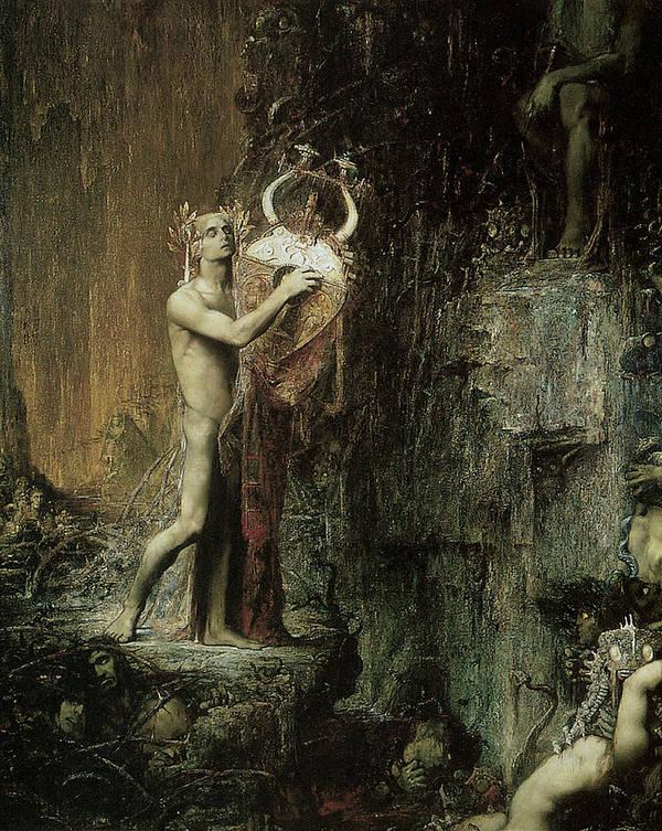 Pierre Amedee Marcel-beronneau Poster featuring the painting Orpheus by Pierre Amedee Marcel-Beronneau