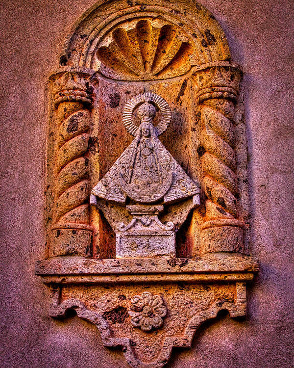 Catholic Poster featuring the photograph Our Lady Of Good Success At The Chapel In Tlaquepaque by David Patterson