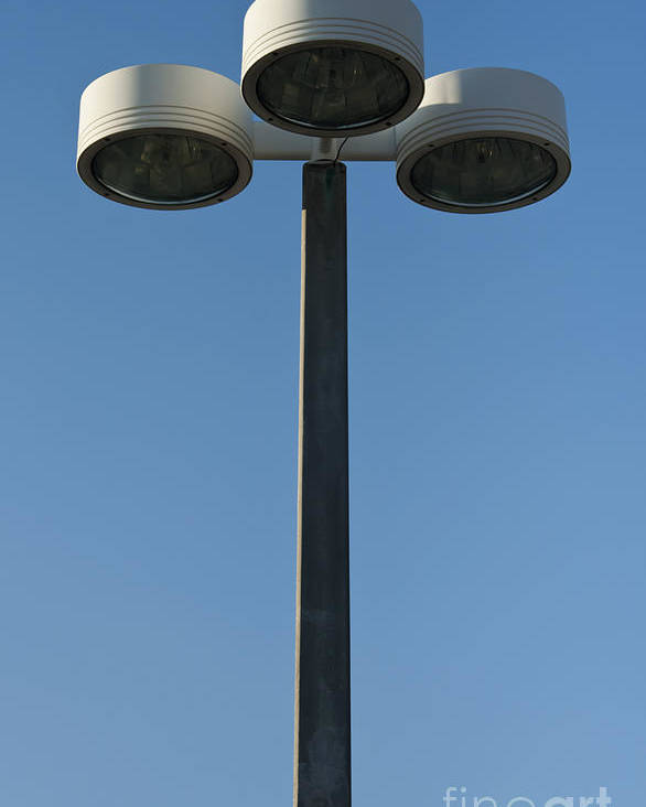 Lamp Poster featuring the photograph Outdoor Lamp Post by Blink Images