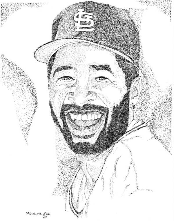 This Image Of Ozzie Smith Took Over 10 Hours To Complete And Has Over 80 Poster featuring the drawing Ozzie Smith by Marty Rice