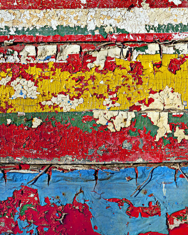 Paint Poster featuring the photograph Painting Peeling Wall by Garry Gay