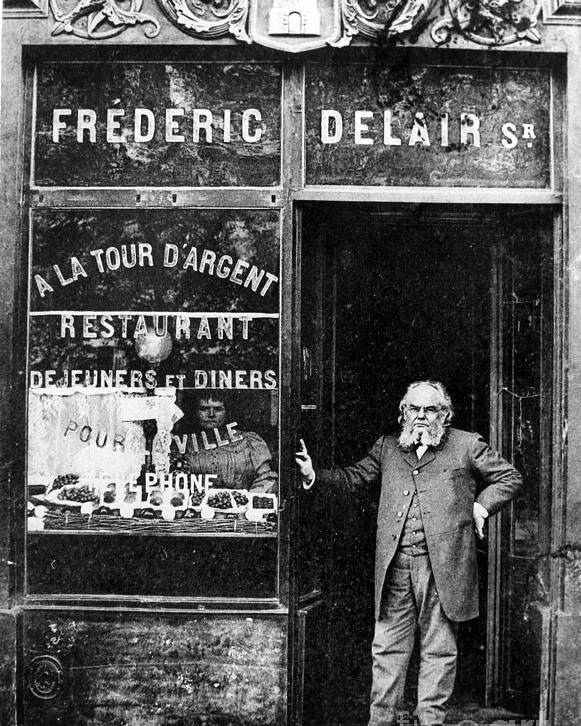 1890s Poster featuring the photograph Paris: Restaurant, 1890s by Granger