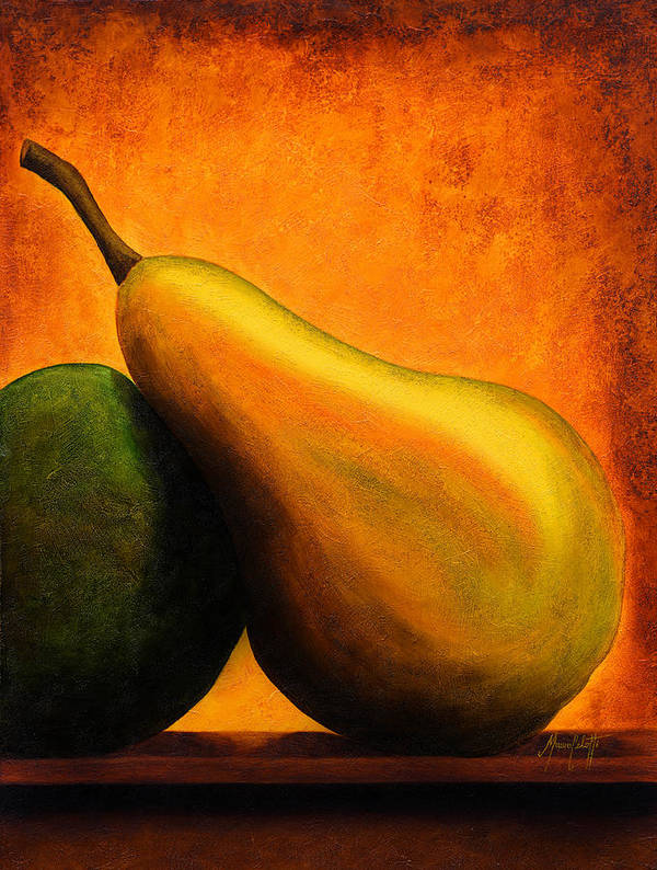 Art Poster featuring the painting Pear by Mauro Celotti