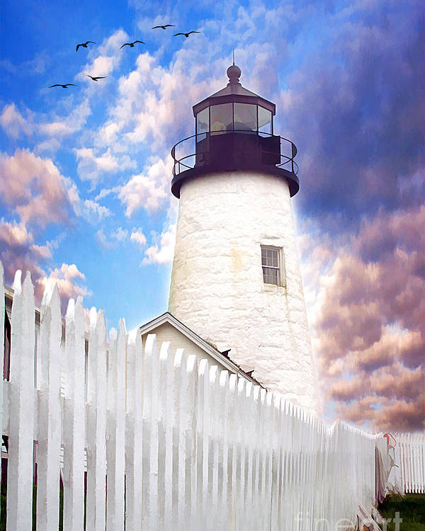 American Poster featuring the photograph Pemaquid Point by Darren Fisher
