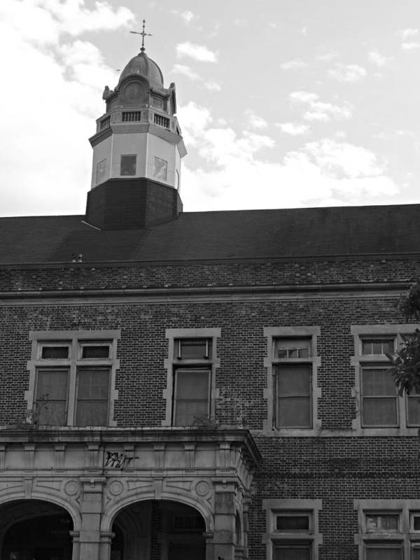 State Poster featuring the photograph Pennhurst 1 by Brenda Conrad