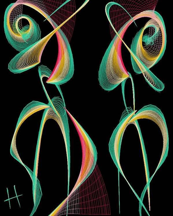 Figurative Poster featuring the digital art Perfect Match by Hayrettin Karaerkek