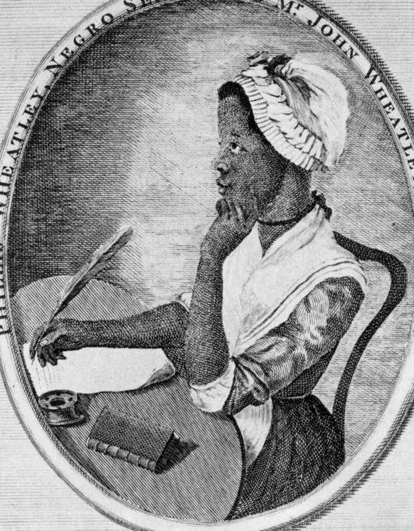 1700s Portrait Poster featuring the photograph Phillis Wheatley 1753-1784, The First by Everett