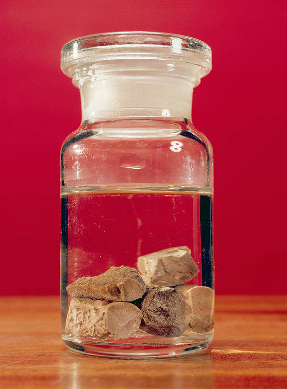 Phosphorus Poster featuring the photograph Phosphorus In A Jar by Andrew Lambert Photography