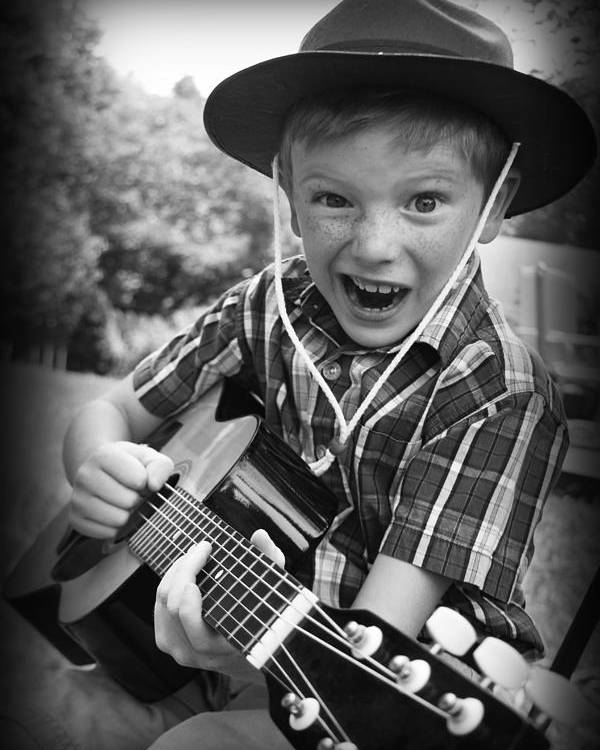 Guitar Poster featuring the photograph Pickin' by Kelly Hazel