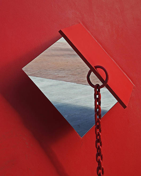 Red Metal Poster featuring the photograph Pierced by Cheri Randolph