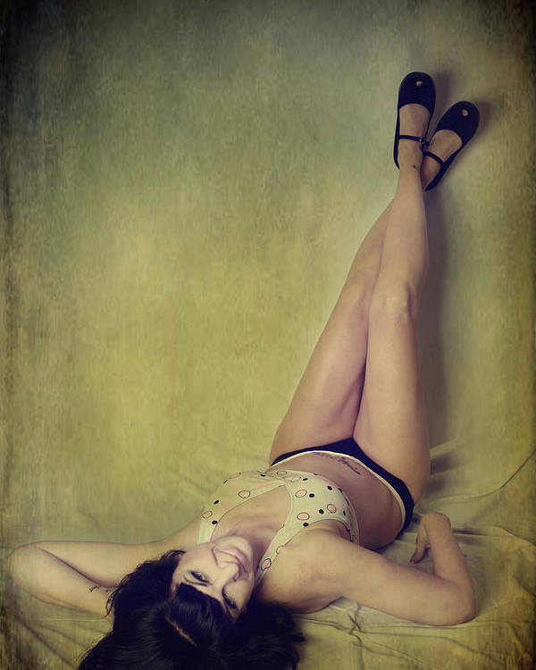 Woman Poster featuring the photograph Pin Me Up by Laurie Search