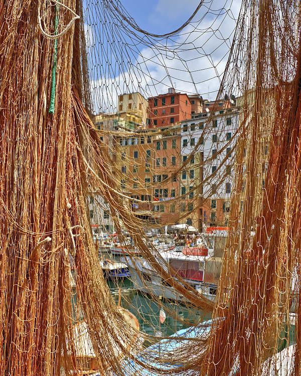 Camogli Poster featuring the photograph Port Of Camogli by Joana Kruse