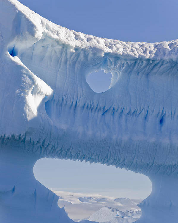 Big Poster featuring the photograph Portion Of A Gigantic Iceberg by Ron Watts