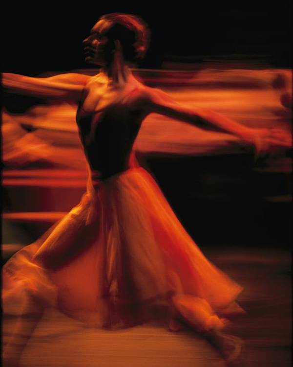 Africa Poster featuring the photograph Portrait Of A Ballet Dancer Bathed by Michael Nichols