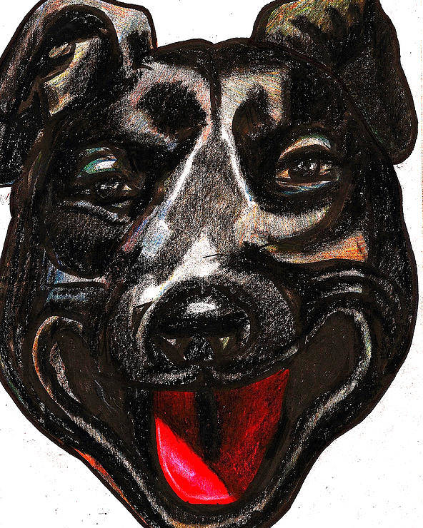 Dog Poster featuring the painting Portrait Of A Pooch by Al Goldfarb