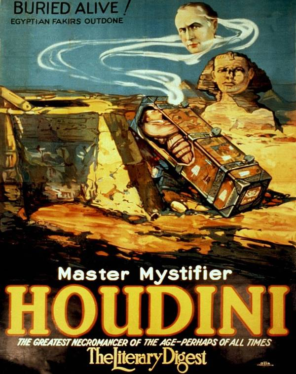 History Poster featuring the photograph Poster Promoting Harry Houdini by Everett