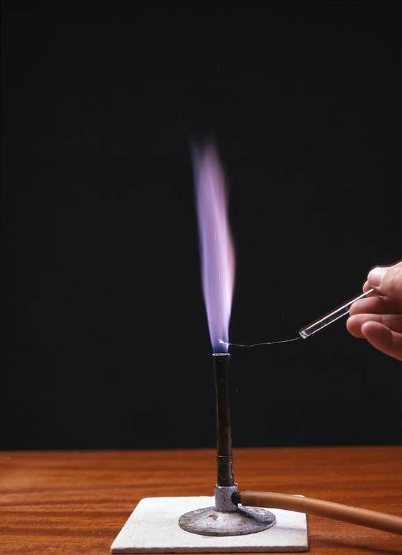Potassium Poster featuring the photograph Potassium Flame Test by Andrew Lambert Photography