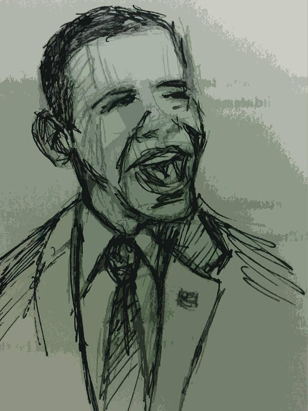 President Poster featuring the photograph President Barack Obama by William Winkfield