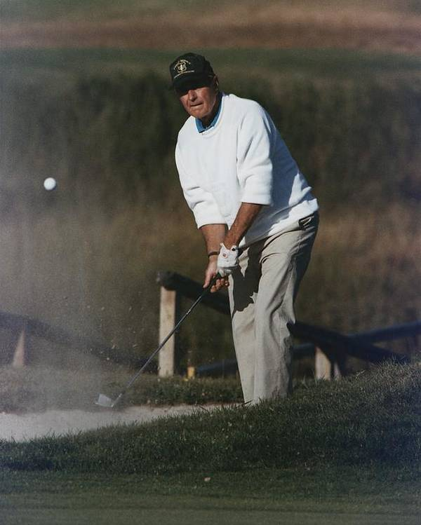 History Poster featuring the photograph President George Bush Plays Golf by Everett