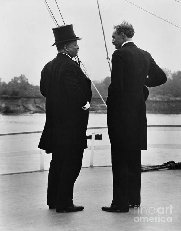 History Poster featuring the photograph President Roosevelt And Gifford Pinchot by Photo Researchers