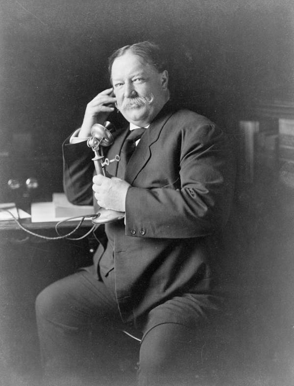 Us Presidents Poster featuring the photograph President William Taft 1857-1930 Using by Everett