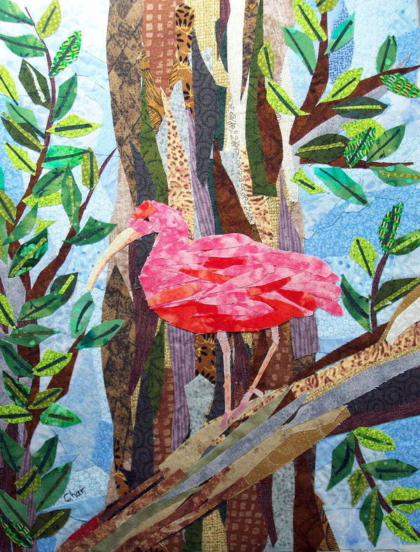 Tropical Poster featuring the tapestry - textile Pretty In Pink by Charlene White