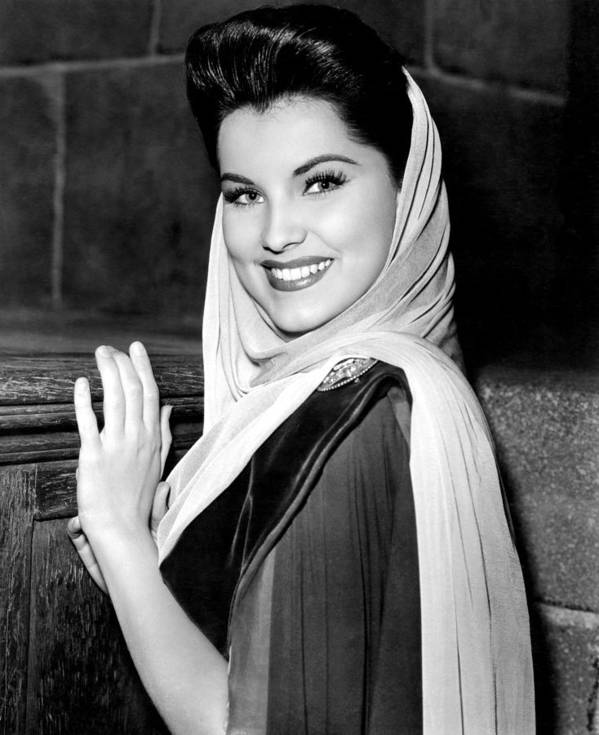 1950s Candids Poster featuring the photograph Prince Valiant, Debra Paget, On-set by Everett
