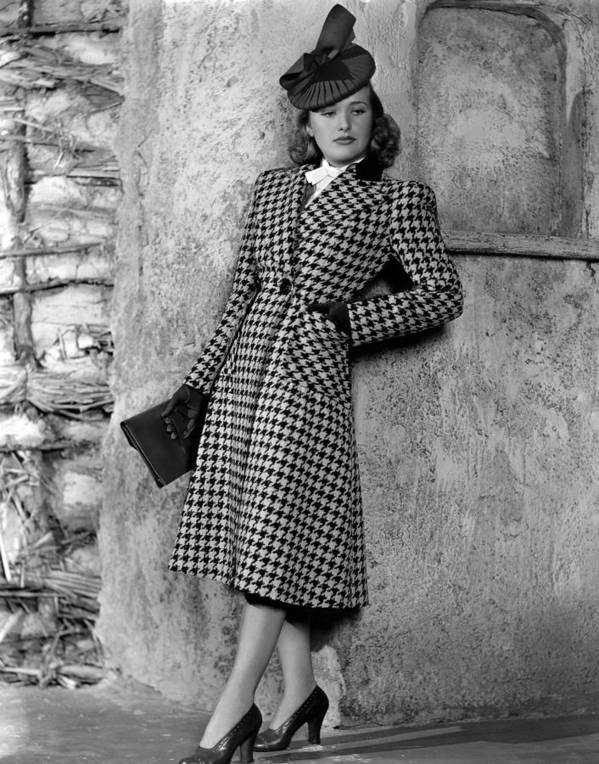1930s Fashion Poster featuring the photograph Priscilla Lane Modeling Houndstooth by Everett