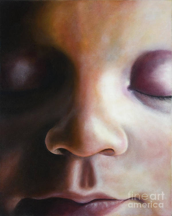 Procreation Poster featuring the painting Procreation 2of3 by Carlos De Las Heras