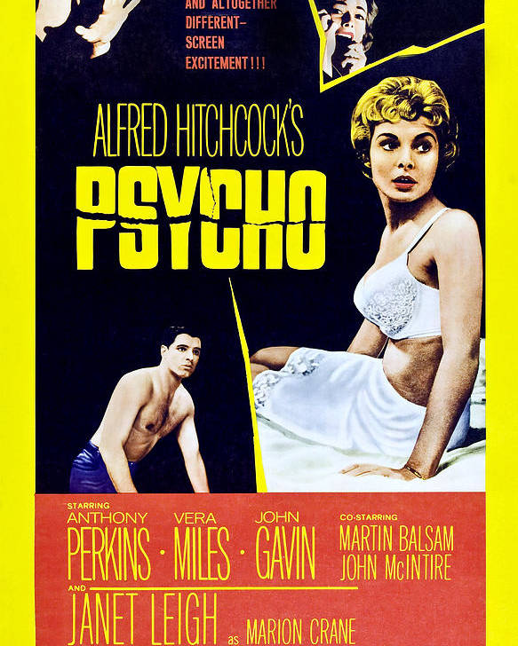 1960 Movies Poster featuring the photograph Psycho, Clockwise From Top Left Anthony by Everett