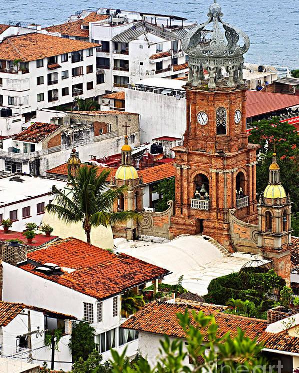 Puerto Vallarta Poster featuring the photograph Puerto Vallarta by Elena Elisseeva