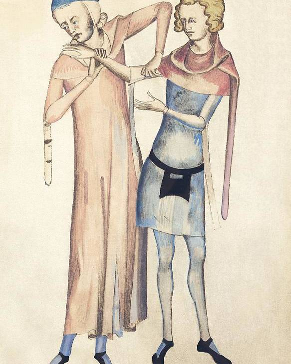 Human Poster featuring the photograph Pulse Measurement, 14th Century Artwork by Sheila Terry