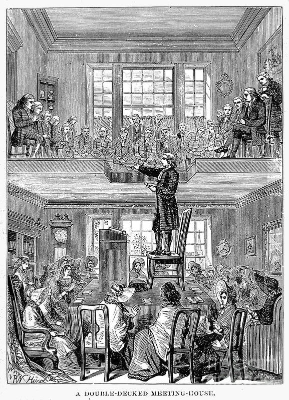 19th Century Poster featuring the photograph Quaker Meeting House by Granger