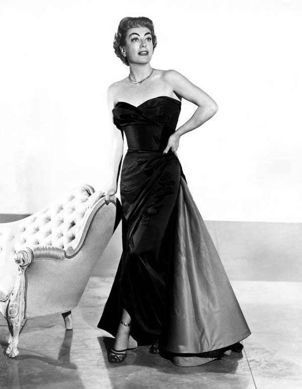 1950s Fashion Poster featuring the photograph Queen Bee, Joan Crawford, In A Gown by Everett
