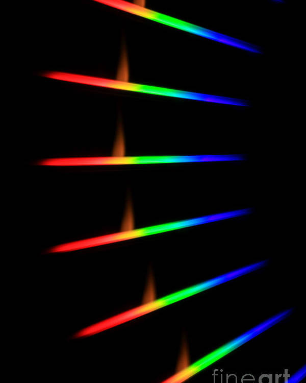 Science Poster featuring the photograph Quicklime Spectra Limelight by Ted Kinsman