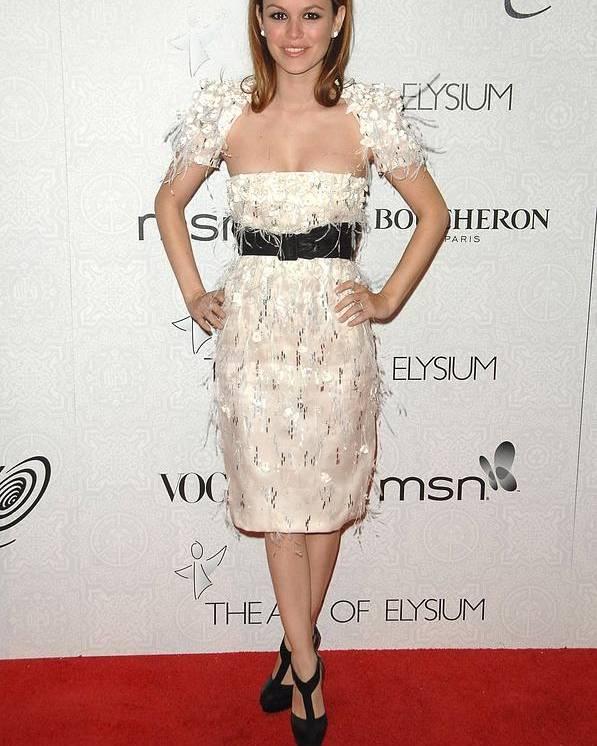 Rachel Bilson Poster featuring the photograph Rachel Bilson Wearing A Chanel Dress by Everett