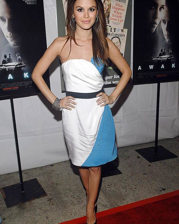 The New York Observer Hosts The Premiere Of Awake Poster featuring the photograph Rachel Bilson Wearing An Abaete Dress by Everett