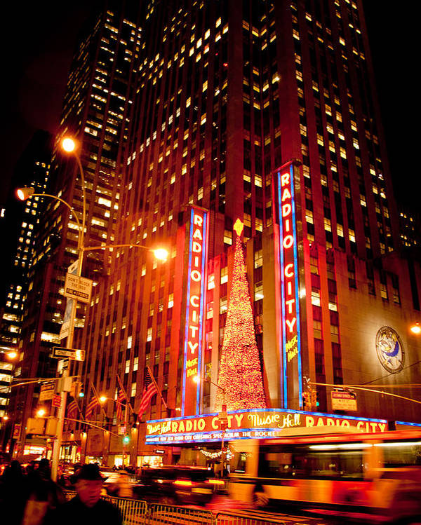 Radio City Music Hall Poster featuring the photograph Radio City At Christmas by Heidi Reyher