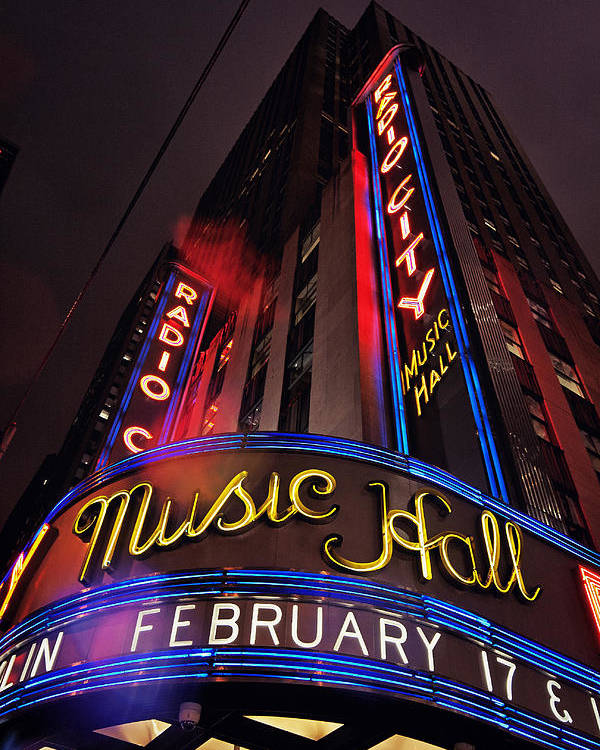 New York City Poster featuring the photograph Radio City Music Hall by Benjamin Matthijs