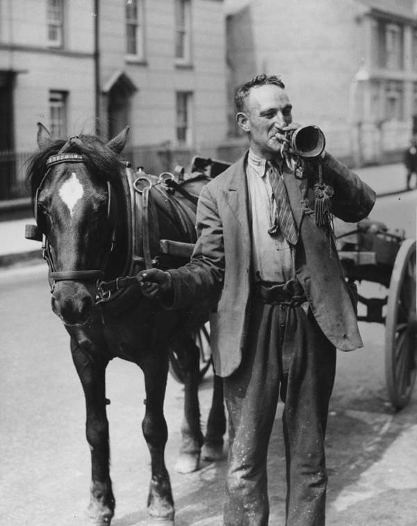 Mature Adult Poster featuring the photograph Rag And Bone Bugle by Fox Photos