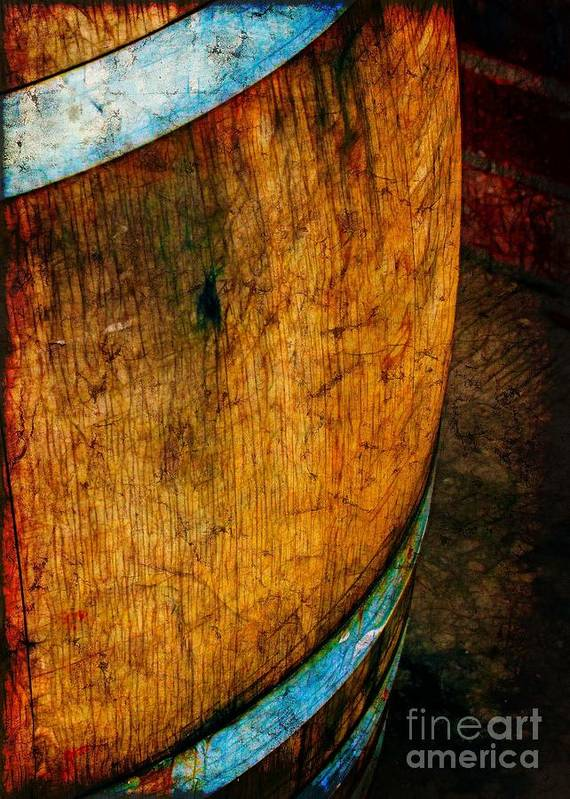 Vintage Poster featuring the photograph Rain Barrel by Judi Bagwell